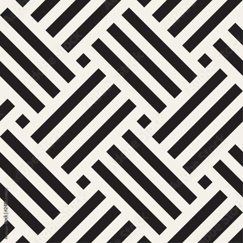 Fototapeta kratka  vector-seamless-pattern-geometric-striped-woven-stripes-ornament-monochrome-intersecting