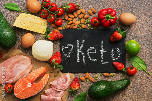 Fotografia  Keto diet food