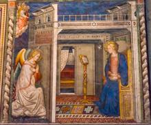 Ghirlandaio Virgin Fresco Annunciation Santa Maria Novella Church Florence Italy