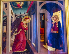 Annunciation Angel Mary Painting Santa Maria Novella Church Florence Italy