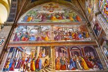 Ghirlandaio Fresco Life Virgin Santa Maria Novella Church Florence Italy