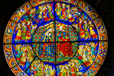 Christ Mary Stained Glass Santa Maria Novella Church Florence Italy