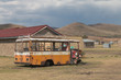 Old bus in Semongkong, Lesotho