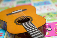 Acoustic Guitar On Bright Chil...