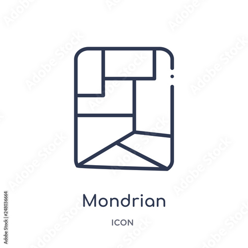 Photo  mondrian icon from museum outline collection