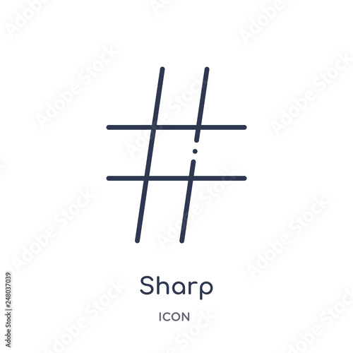 Fotografie, Obraz  sharp icon from music and media outline collection