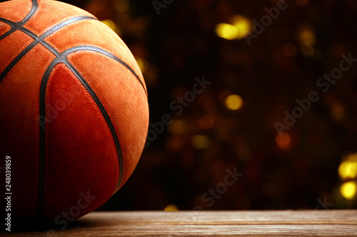 basketball ball gold bokeh Tablou Canvas