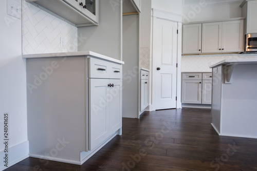 Zdjęcie XXL Nowoczesne nowe szafy budowlane White Kitchen Grey