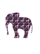 Pink Elephant On A White Background