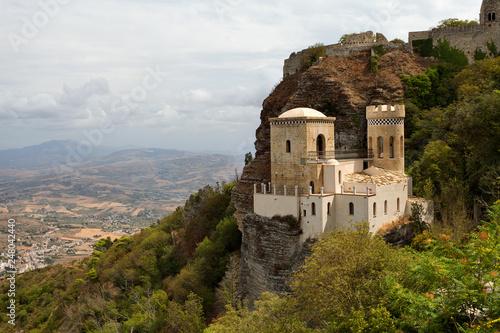 Fotografie, Obraz  Erice, Sicily, Italy - the Pepoli Castle is also known as Venus Castle (Castello di Venere)