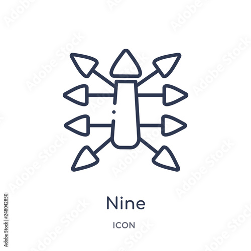 Fotografia  nine icon from orientation outline collection