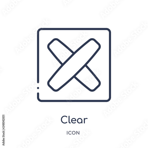 Photo  clear icon from orientation outline collection