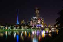 Skyline Of Melbourne And The Y...