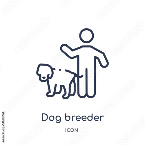 Fotografija dog breeder icon from people skills outline collection