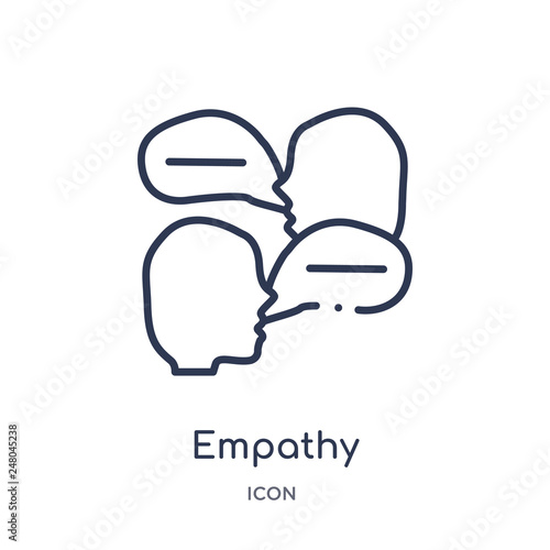 Fotografia  empathy icon from people skills outline collection