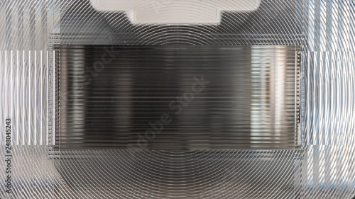 Fototapeta Speedlight fresnel lens close-up