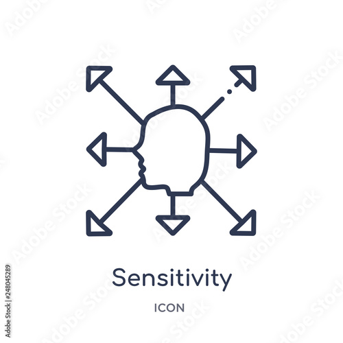 Fotografia  sensitivity icon from people skills outline collection