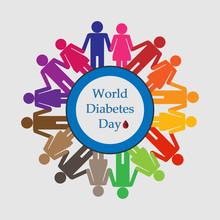 Illustration Of Diabetes Aware...