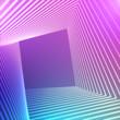 Leinwandbild Motiv Abstract background with a colorful dynamic wave.