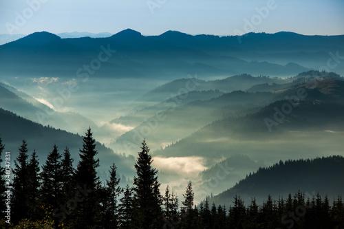 Spoed Fotobehang Zalm The Carpathians mountains