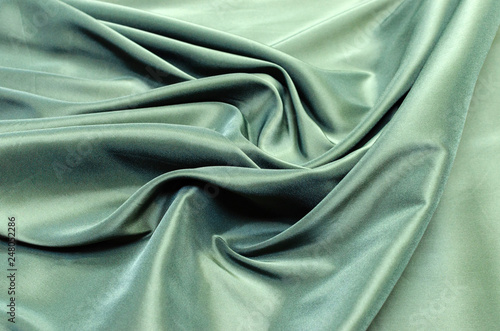 Crédence de cuisine en verre imprimé Tissu Dark green lining fabric from viscose, acetate and elastane