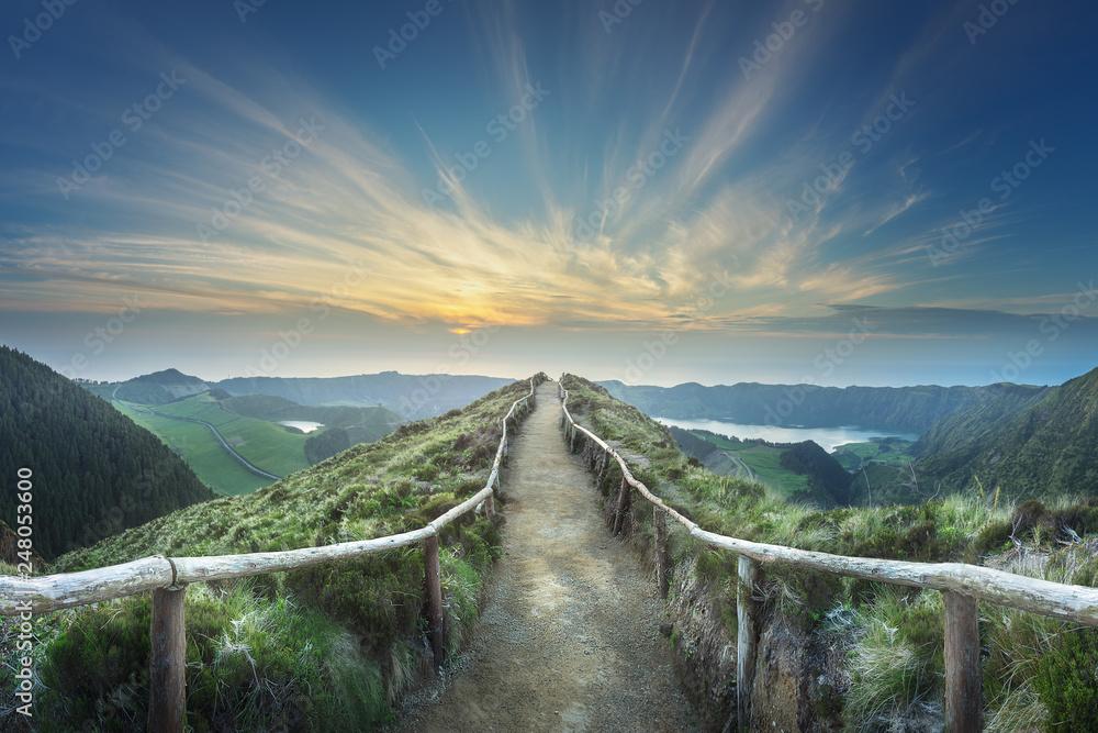 Fototapety, obrazy: Mountain landscape Ponta Delgada island, Azores, Portugal