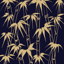 Bamboo With Leaves Seamless Pa...