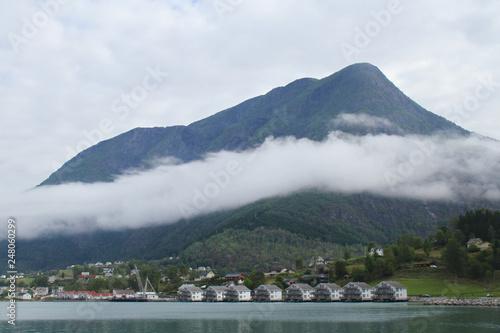 Fotografie, Obraz  Landscapes by the  fjords at the fishing village of Skjolden - Norway