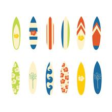 Surfboard Vector Icon Set. Sur...