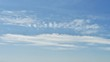 Beautiful blue sky and white cloud background. The weather is bright.