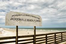 Jacksonville Beach Florida Fishing Pier Sign