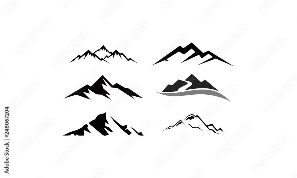 Fototapety, obrazy: peak logo mountain icon