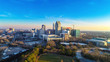 canvas print picture - Downtown Raleigh, North Carolina, USA Skyline Aerial
