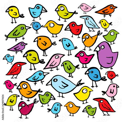 Kolorowe ptaszki