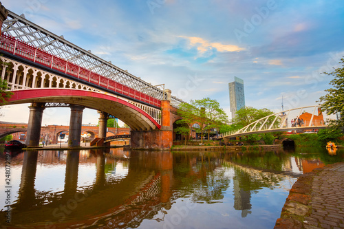 Foto  Castlefield is an inner city conservation area in Manchester, UK