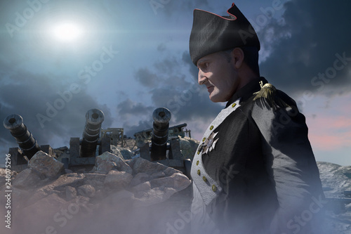 Photo Napoleon Bonaparte, military leader and statesman of the 18th century render 3d