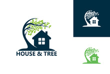 House & Tree Logo Template Des...