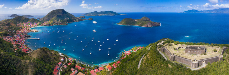 Wyspy Saintes. Gwadelupa Francuska. Wyspa karaibska.
