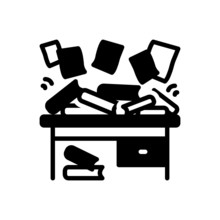 Black Solid Icon For Disorganize