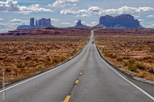 Canvas Prints Route 66 Monument Valley - Forest Gump Point