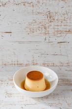 手作りカスタードプリン homemade Custard Pudding