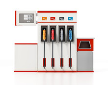 Modern Fuel Pump Isolated On White Background. 3D Illustration