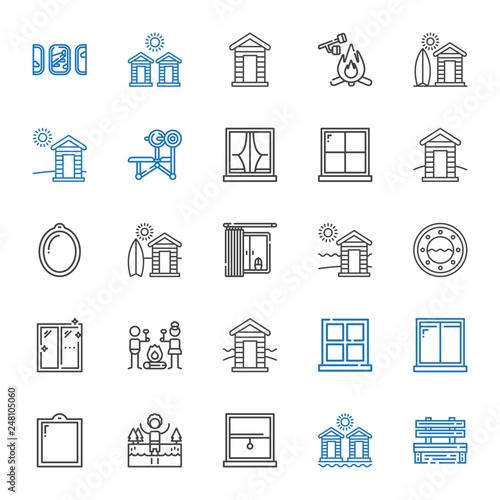 Fotografía  outdoors icons set