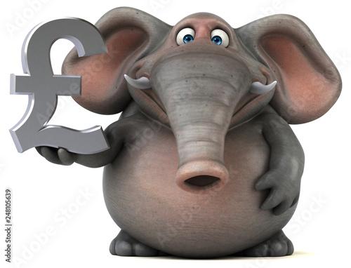 Photo Fun elephant - 3D Illustration