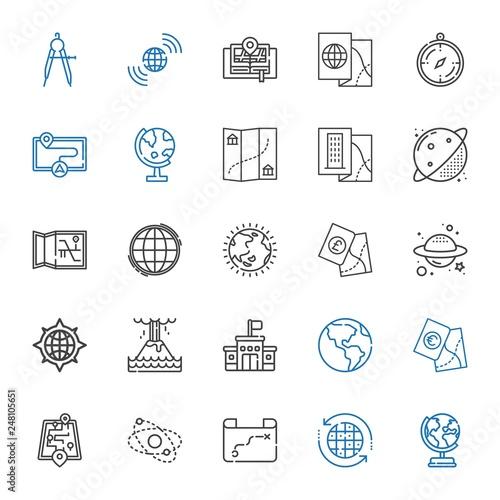 Fotografia  geography icons set