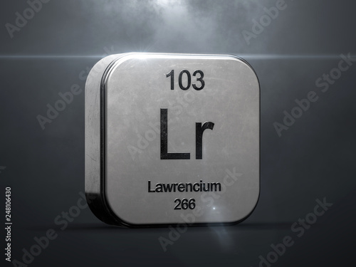 Papel de parede  Lawrencium element 103 from the periodic table