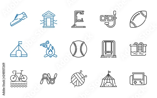 Photo  activity icons set