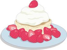 Strawberry Shortcake Vector Illustration