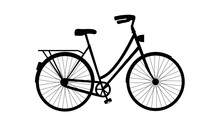 Bicycle Silhouette - Vector Il...