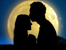 Couple Under The Moonlight. My Astronomy Work.